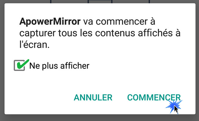 notification ApowerMirror