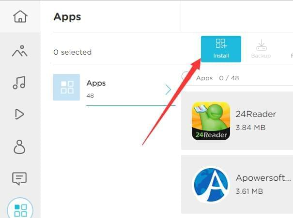 Install apps with AirMore