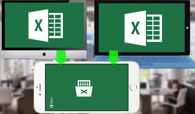 Transfer excel to iPhone